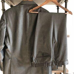 Calvin Klein Suits & Blazers - Calvin Klein Shark Skin Slim-Fit Suit -34 W x 32 L